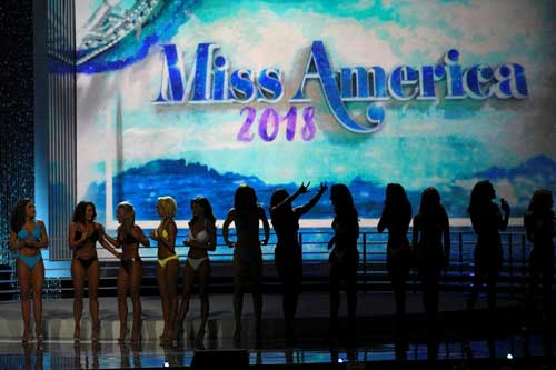 File image - Contestants await the results after competing in the swimsuit component of the 97th Miss America Competition in Atlantic City, New Jersey, U.S., September 10, 2017. Reuters photo.