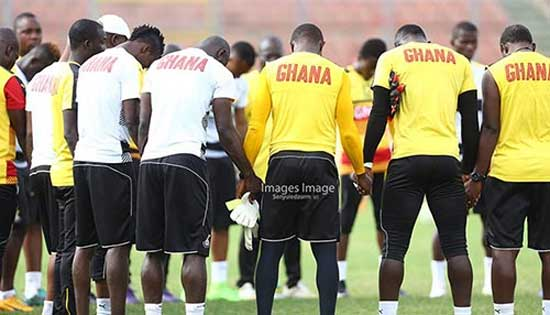 The Black Stars in training