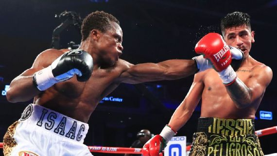 Isaac Dogboe stops Jessie Magdaleno to win WBO belt