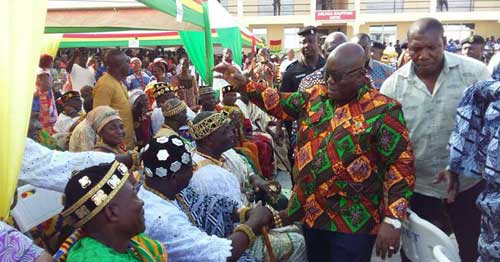 'I'm not stealing NDC policies' - President Akufo-Addo at Keta