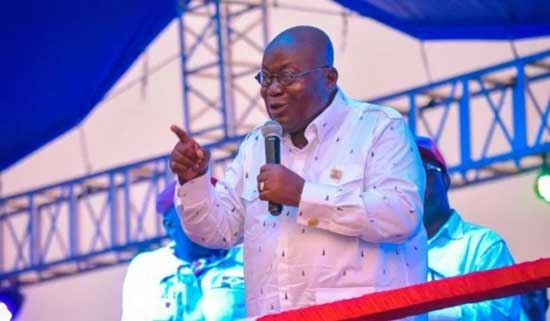 Speech By President Akufo-Addo During Acclamation Ceremony. File image