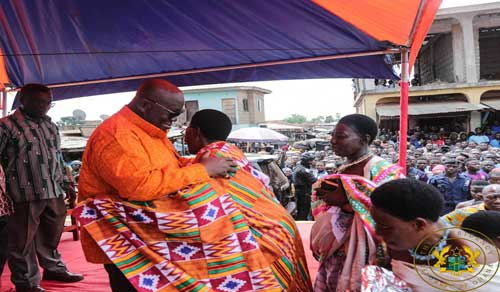 "President Akufo-Addo says the cycle of politically related acts of violence and vigilantism that occurs in Sankore, in the Asunafo South Constituency of the Ahafo Region, is soon coming to an end.  According to President Akufo-Addo, the Vigilantism and Related Offences Bill, which is currently before Parliament, when passed, should deal effectively with the worrying phenomenon of vigilantism not only in Sankore, but in all parts of the country.  The Bill, when passed, will ensure that ""not only the people who are inciting the violence will be punished, but also the powerful people behind them will face the full extent of the law.""  The President stressed that ""Once Parliament passes this bill, everyone involved in vigilantism will face the law – whether you are a Minister, Regional Minister, MP or not, once you are implicated, you will be prosecuted.""  President Akufo-Addo made this known on Friday, 12th April, 2019, at a durbar of the Chiefs and people of Sankore, at the commencement of a 2-day tour of the newly created Ahafo Region.  Expressing his disgust at the spate of politically motivated violence in Sankore, he indicated that ""this cycle of violence taking place in Sankore ends today.""  He assured residents that, as opposed to what happened in the run-up to the 2016 elections, where Sankore became a hotbed for clashes and attacks on residents, ""in the 2020 elections, I give you my personal promise, it will not happen here in Sankore.""  President Akufo-Addo added that persons who resort to the use of violence to win an election are, automatically, not the people's choice.  ""If you are, then there is no need to intimidate people into voting for you. The people themselves will rally together to vote for you. That is what we want to see here in Ghana – peaceful, free elections. If you are going to rely on violence and bloodshed, then it would appear that you are not the one the people want. I repeat, this will not happen again,"" he said.  The President continued, ""We are not going to allow Ghanaian politics, Ghanaian democracy, to be compromised by these acts of violence and thuggery. It will not happen again. Since October (2018), we have not heard any news of political violence in Sankore. We will continue to monitor the situation. I also call on you to be alert, and help me to ensure that peace continues to reign here in Ghana, especially here in Sankore."""