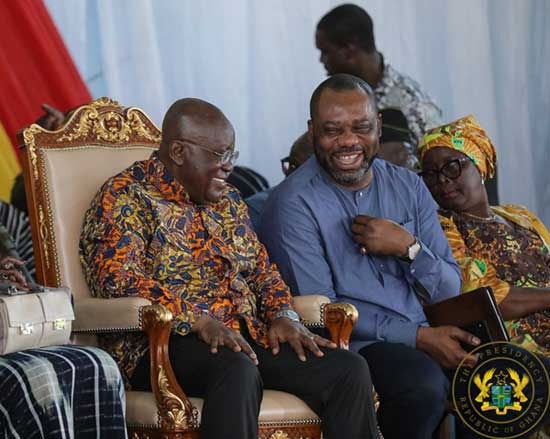 President Akufo-Addo (L) with Minister of Education Dr. Matthew Opoku Prempeh