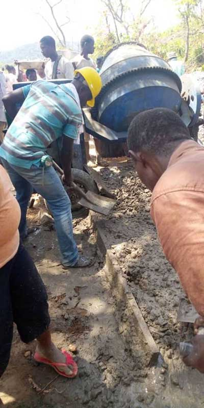 Avatime Gbadzeme construct road through communal labour