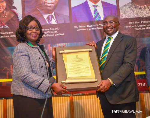Chartered Institute of Bankers (Ghana) Honours VP Dr Mahamudu Bawumia