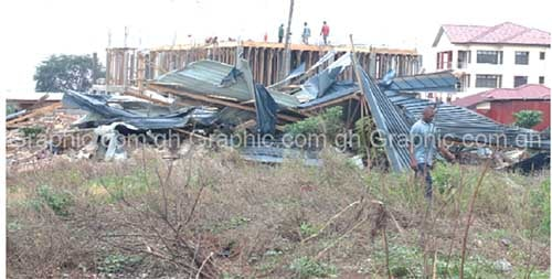 Building of South Dayi MP, others demolished - Property was on government land - Photo: graphic.com.gh