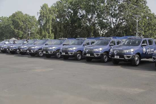 Government Gives 64 Vehicles to Police