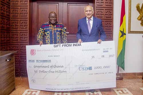 Indian govt donates US$1m towards renovation of Flagstaff House