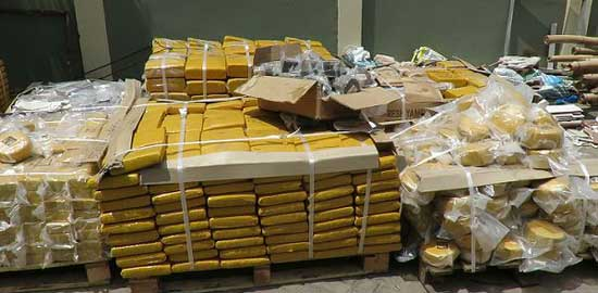 The large quantities of weed slabs intercepted by the Narcotics Control Board
