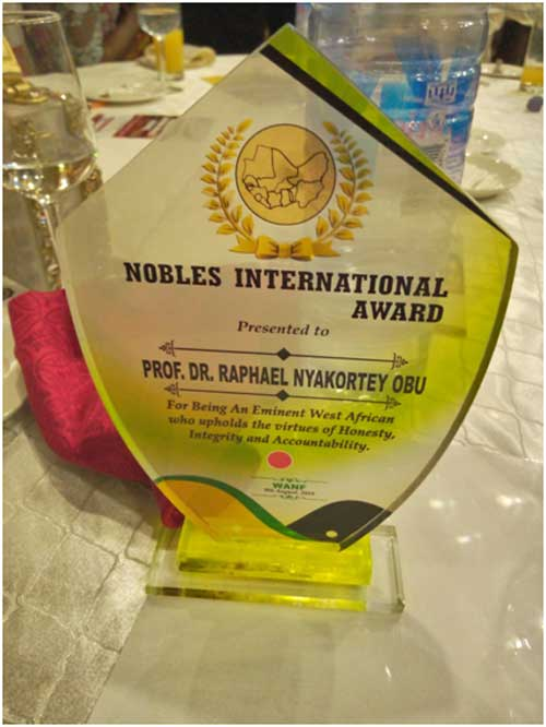 "Youngest Professor conferred with the title ""Noble"", inducted into West Africa Nobles Forum"