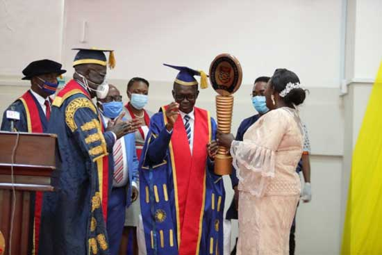 UCC inducts Prof. Johnson Nyarko Boampong into office as new Vice-Chancellor