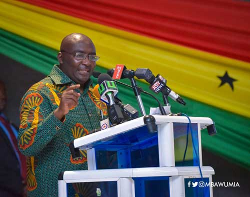 Vice President, Dr Mahamudu Bawumia, speaking at the launch of the restoration of Trainee Teacher Allowance in Accra.