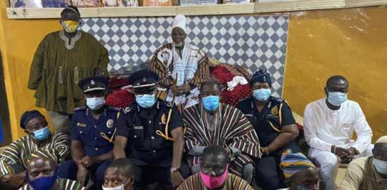 Police delegation visits Ya-Na following sacking of Yendi Divisional Police Commander