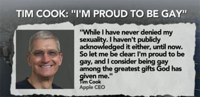 Tim Cook Speaks Up About Being Gay