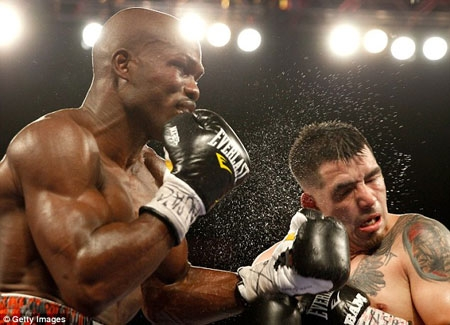 Timothy Bradley (L) defeated Brandon Rios by TKO in ninth round.