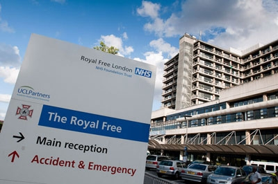 The Royal Free hospital in north London where Pauline Cafferkey, the first Ebola patient to be diagnosed in the UK, is being treated.