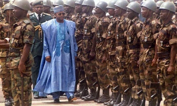Library photo: Sani Abacha, then president of Nigeria, arrives in Sierra Leone on 10 March 1998