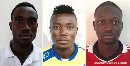 New Kotoko recruits - Atta Kusi (L), Owusu Jackson (C) and Halipha Sedogo (R)