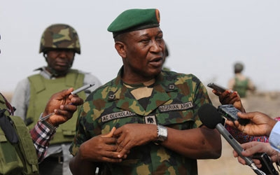 Major-Gen Chris Olukolade of Nigerian military