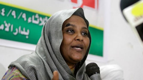 Mariam al-Mahdi, Sudanese deputy leader of the Umma Party led by her father .
