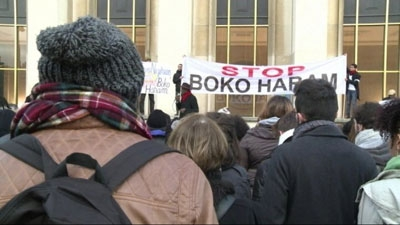 hundreds rally in Paris against Boko Haram massacres
