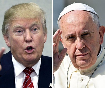 'Pope questioning my faith is disgraceful' - Donald Trump