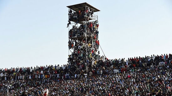 Supporters crammed in to see the Africa Cup of Nations qualification match