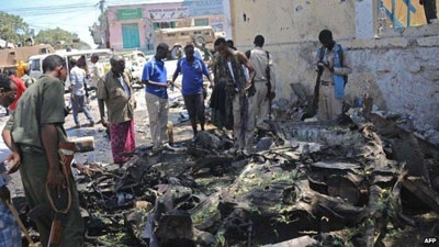 Several people were killed and dozens injured on Tuesday when suspected Al Shabaab militants detonated a car bomb outside the higher education ministry building in Mogadishu, the capital of Somalia, before storming into the complex