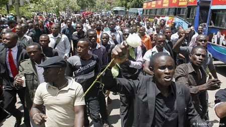Students in Kenya march for better security following al-Shabab massacre