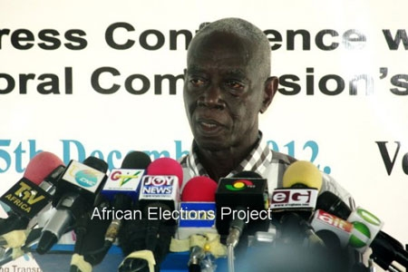 Dr. Kwadwo Afari-Gyan, Chairman of the Electoral Commission in Ghana