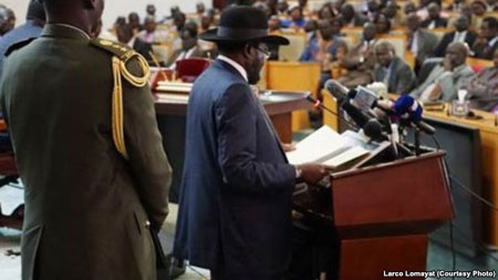 South Sudan President Begins New 3-Year Term with Promises