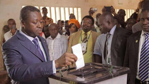 Faure Gnassingbe wins third term as president