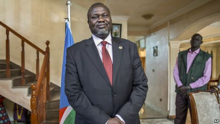 File -  South Sudan rebel leader Riek Machar