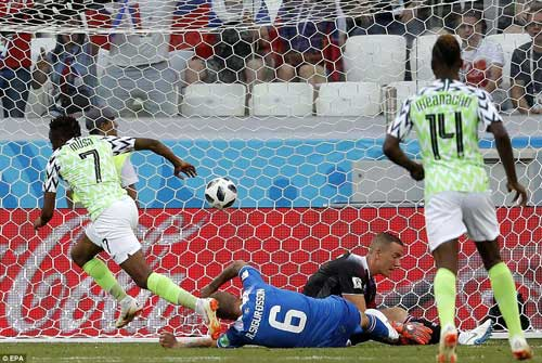 Nigeria forward Musa broke the deadlock early in the second half with a fine finish following a move on the counter-attack