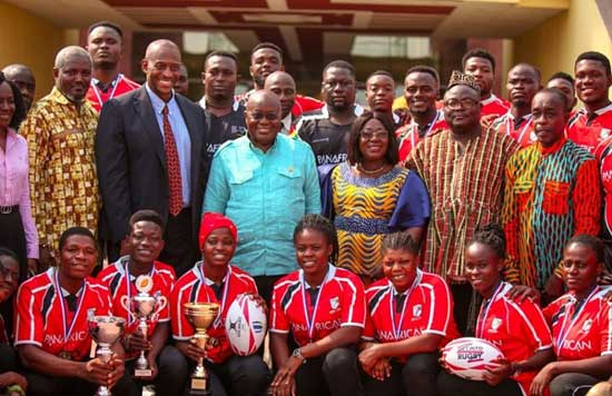 President Nana Akufo-Addo Congratulates and Acknowledges Ghana Rugby