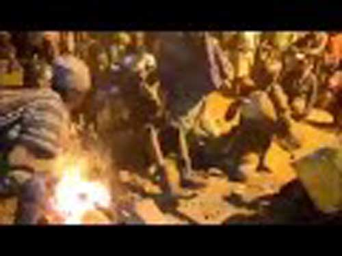 Fire Dance:  Dagbon Blacksmiths perform the 'amazing fire dance