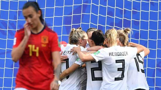 Germany make it two wins out of two with narrow victory over Spain. Getty image